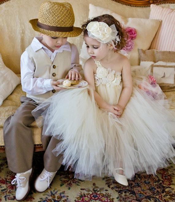Ivory flower girl tutu dress, Flower girl dress, tutu dress