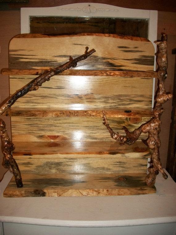 Rustic Burl Wood Bedroom Furniture: Oregon Rustic Blue Pine Burl Wood Hanging Wall By