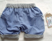 Checked Baby Boys Shorts and Body Set