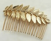 bride hair comb - 24k gold plated Bridal hair comb - Bridal Hair Piece - Gold hair comb - Hollywood Bridal Headpiece