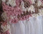Hand Crocheted Hat & Scarf Set - Beautiful!