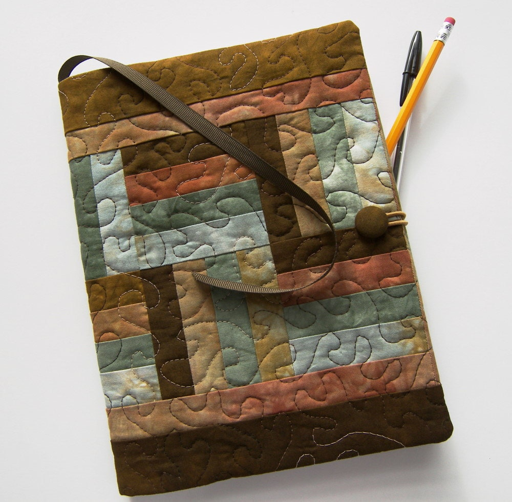 Quilted Book Cover Pattern : Quilted composition notebook cover fabric by sonyabensonquilts