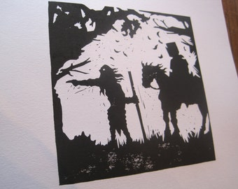 St George and The Hermit - Silhouette Print