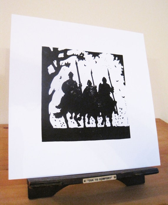 Silhouette Print - Beowulf and his men.