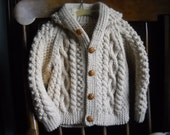 Baby Boy Irish Knit Hooded Sweater