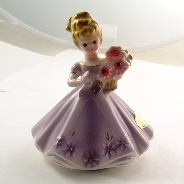 Porcelian Figurine Josef Originals July Birthstone Vintage