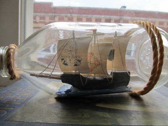 A ship in the bottle.