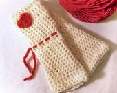 Romantic Valentine Crochet Fingerless Armwarmer Gloves