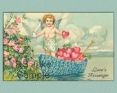 """Vintage Valentine Post Card Reproduction 006 5"""" X 7"""""""
