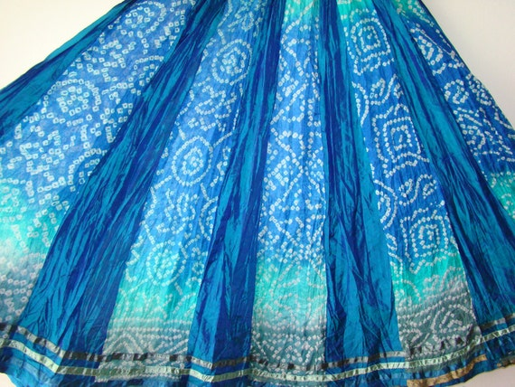BEAUTIFUL Handmade Tropical Maxi Skirt size Small