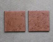 Italian Terracotta Trivets - Set of two