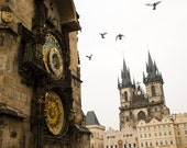 Prague Clock Print Fine Art Travel Print on Premium Paper 8x12