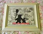 Winnie the Pooh and Piglet, too Framed Silhouette