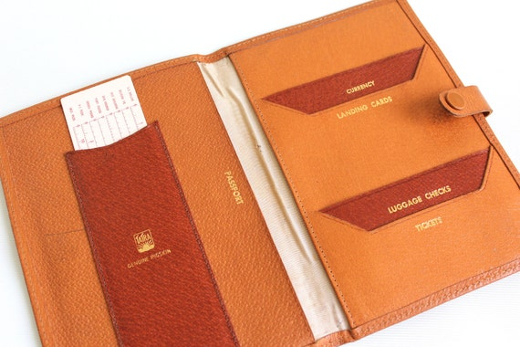 Leather Passport and Document Wallet