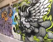Lion and Lady street art. Melbourne, Australia. 8 x 10 Print