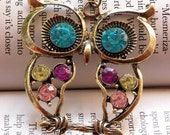 SALE - Colorful Owl Necklace