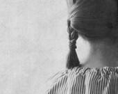 "Fine Art Photography . Black and White Portrait . Size: 8x8"" (20cmx20cm) ."