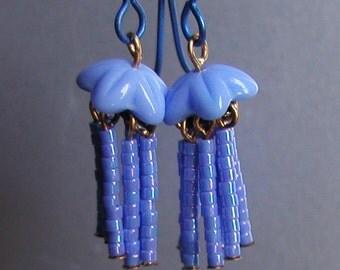 Micro Mini Jellyfish Dangle Earrings in Periwinkle