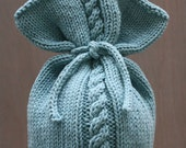 Baby Cabled Fan Top Beanie 3mo - Ready to Ship