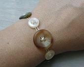 Peaceful Meadow Button Bracelet - Ready to Ship
