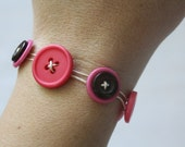 Pretty in Pink Button Bracelet - Ready to Ship