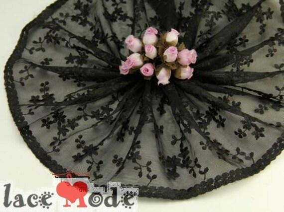 Black lace trim 2 Yards 6 Inches wide lacemode 0006