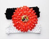 Disney Minnie Mouse Daisy flower stretchy headband set