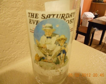 Vintage Norman Rockwell Saturday Evening Post glass Arby's number 3