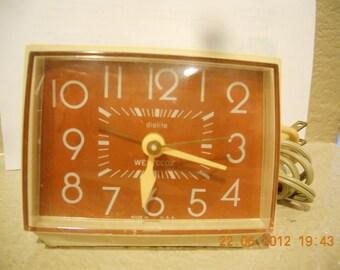 Vintage dialite Westclox Clock Bold II drowse Model 22192 Talley