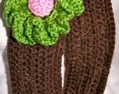 Pretty 'n Cozy Ear Warmer, Crochet, Handmade, OOAK Girl Gift, Cheerleader, Headband