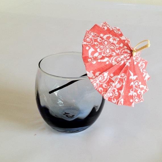 Cocktail Umbrellas, Drink Stir Straw Party Favors - set of 6