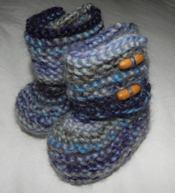 Tall Mary Jane Baby Booties - Shades of Blue