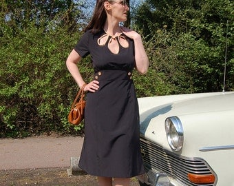 Pauline 1940's vintage inspired custom made dress