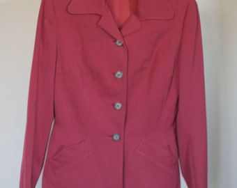 vintage 40s womens red suit suit klein and klein sportswear new york