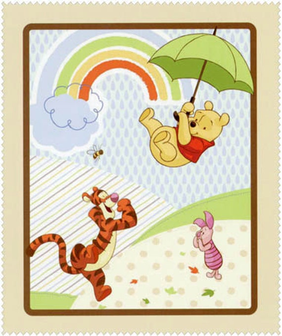 Winnie The Pooh Rain: Winnie The Pooh & Pals In Rain Day Tigger Piglet By Weiselect