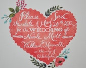 Custom Save the Date Cards Set of 50