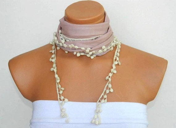Personalized Design Pastel powder pink Scarf. Turkish Fabric Guipure Scarf ..bandana,headband,wedding,bridal,authentic, romantic, elegant,