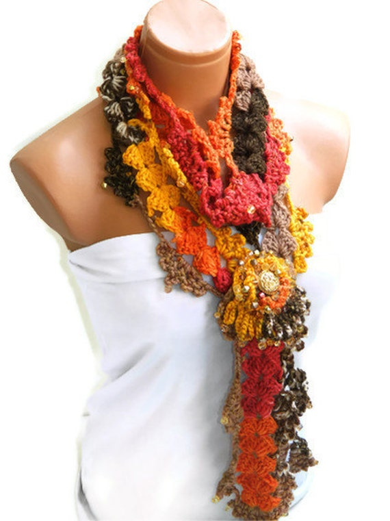 Discount sale-Neckwarmer, Crochet Women Scarf... fashion,autumn,Holiday Accessories, Personalized Design. Neckwarmer, scarflette...
