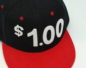 ONE DOLLAR hat (black/red)