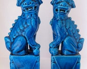 Turquoise Chinese Fu-Dogs (set of 2)