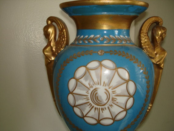 20th Century Sevres Style French Urn Handpainted