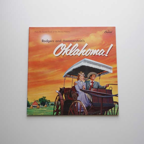 Vintage Oklahoma Musical Film Sountrack - Vinyl Record - Capital Records - 1950's - Rodgers and Hammerstein - Mother's Day