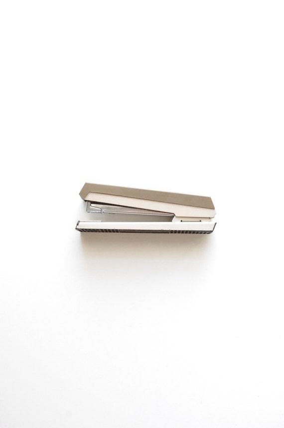 Vintage Stapler - ACCO 40 - Industrial - Office - Metal - Retro - Beige - Back to School