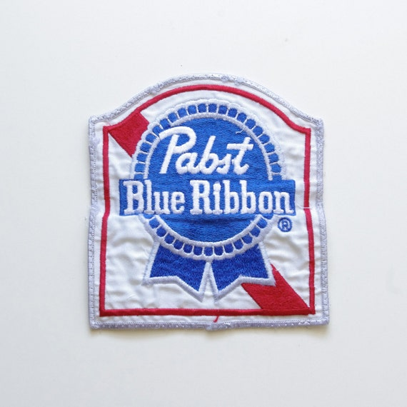 Pabst Blue Ribbon Embroidered Patch - PBR - Beer