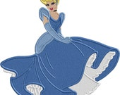 ClNDER princess Blue Dress - Applique or Embroidery  FILE ONLY