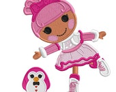 SWlRLY and Penguin- Applique or Embroidery FILE only