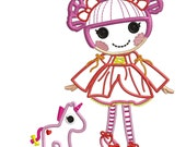 Iady and unicorn- Applique or Embroidery FILE only