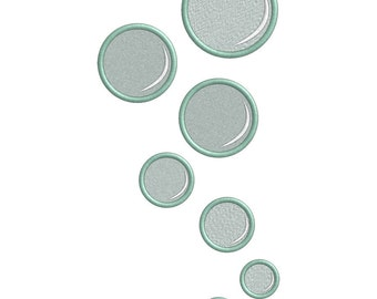 Bubble Embroidery OR Applique file - FILE ONLY