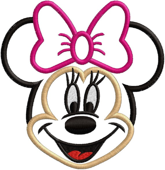 Girl Mouse  - Applique OR Embroidery file - FILE ONLY