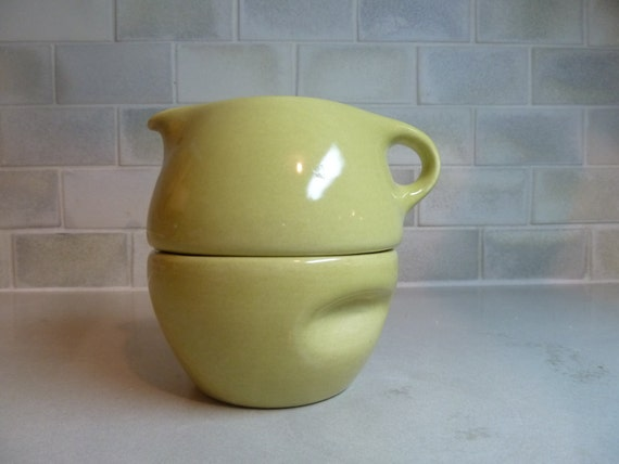 Russel Wright for Iroquois Casual China Stacking Creamer and Sugar Bowl